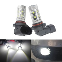 ANGRONG 2x HB4 9006 50W LED Bulb Projector White Sidelight Daytime Fog Light Lamps(CA300)