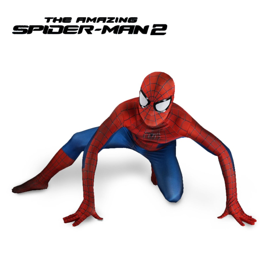 Amazing Spiderman cosplay Costume Adult Lycra Spandex superhero Avengers Halloween Cosplay Costume for kids men Zentai Suit