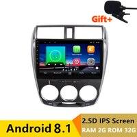 10,1 2 г оперативная память 32 Android автомобильный DVD видео плеер gps для HONDA CITY 2008 2009 2010 2011 2012 2013 аудио автомобиля Радио стерео