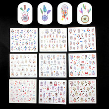 YWK 26 sheets/lot Beauty Vlinder Gemengde Ontwerpen Vol Water Transfer Stickers Promoties Nail Art Decal Sticker Kit(China)