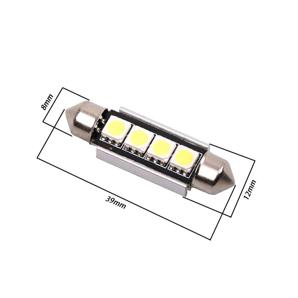 4pcs High Quality Festoon 5050 4smd 39mm 41mm LED Bulb C5W C10W Super Bright Canbus Auto Interior Dome Lamp Car Styling Light in Signal Lamp from Automobiles Motorcycles