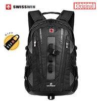 Swiss Brand Backpack Men Swissgear Backpack Bag Swiss Army Black High Quality 38L Large Capacity Travel