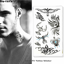 Nu-TATY Ancient Phoenix Totem Temporary Tattoo Body Art Flash Tattoo Stickers 17x10cm Waterproof Fake Tatoo Car Styling Sticker