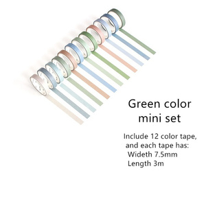 Image 2 - 4 set/Lot Vintage decoration purple green color masking tape 7.5mm 15mm washi tapes stickers for diary album Stationery A6073