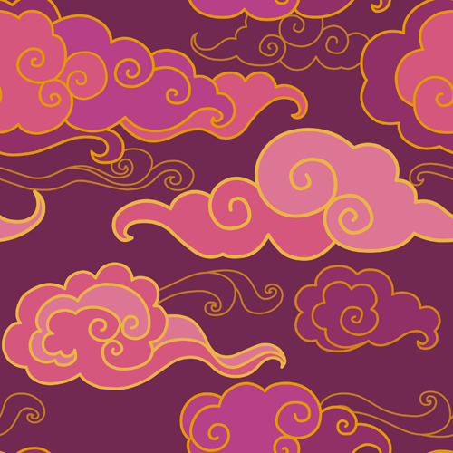 Digital clouds photo studio background  Art fabric backdrop for indoor photo newborn baby backdrops D-9891