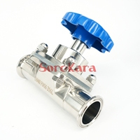 1 1 2 38mm 316 Stainless Steel Sanitary Tri Clamp Diaphragm Valve Brew Beer Dairy Product