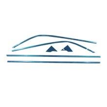 Acero Inoxidable 6 unid/set Accessiores carstyling Travesaño de la Ventana Inferior Adorne Recortar Para Toyota C-HR CHR 2016 2017