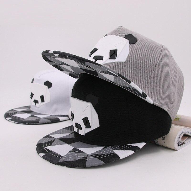 2019 Caldo Del Fumetto Cappelli 3d Del Silicone Panda Modello Animale Cappellini Da Baseball Cappelli Di Snapback Per Le Ragazze Dei Ragazzi Hip-pop Cappelli Da Sole Per Per Gli Adulti