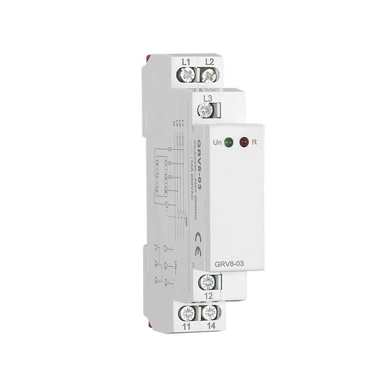 Din Rail Three Phase Monitoring Voltage Relay Industrial Control Phase Sequence Failure Protection Relay