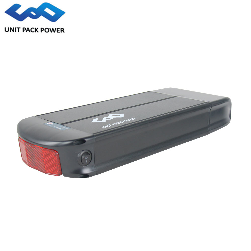 UPP 48V 13Ah Rear Rack Battery with Tail Light Samsung Cell Lithium ion Battery 48V for 750W Bafang EngineUPP 48V 13Ah Rear Rack Battery with Tail Light Samsung Cell Lithium ion Battery 48V for 750W Bafang Engine