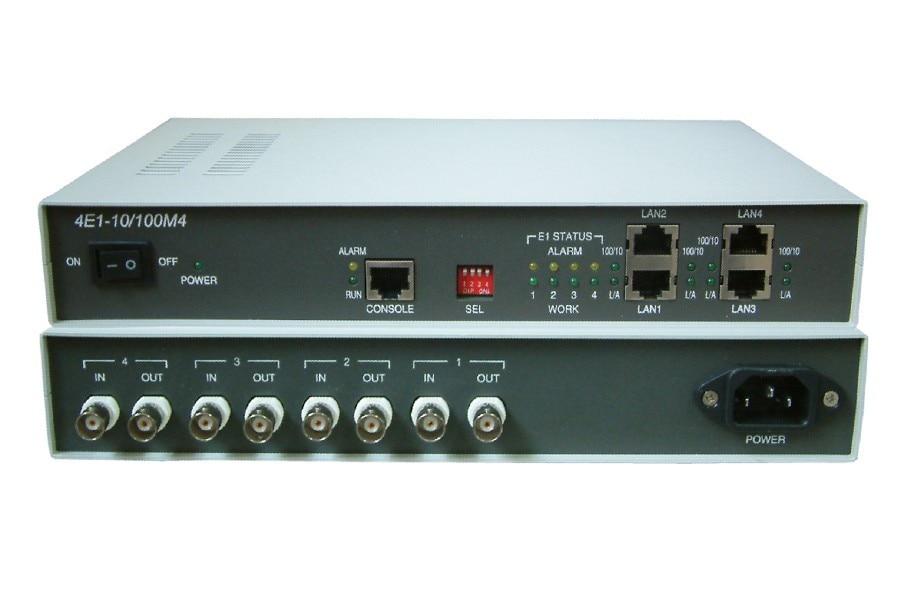 Мост lan на существующих e1 основе сети 4E1 до 4 порта Ethernet конвертер протокола