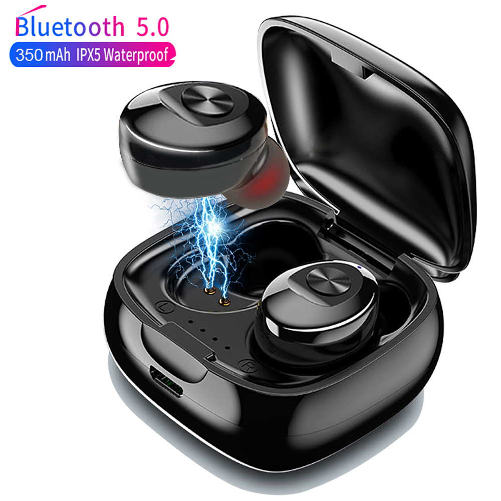 XG12 TWS Bluetooth 5.0 Earphone Stereo Wireless Earbus HIFI Sound Sport Earphones Handsfree Gaming Headset with Mic for Phone Борода
