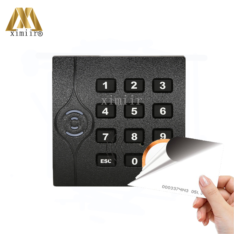 Good Quality ZK KR202E Access Control RFID Card Reader Wiegand26 ID Card Reader IP64 Waterproof Smart EM Card Reader With Keypad original access control card reader without keypad smart card reader 125khz rfid card reader door access reader manufacture