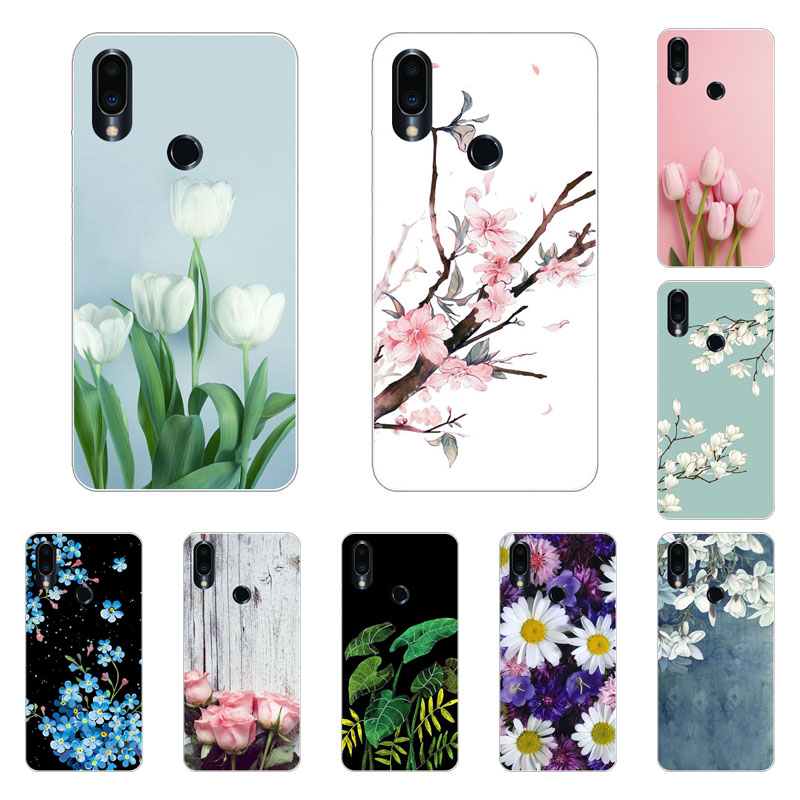 Meizu note 9 Case,Silicon Blue plum Painting Soft TPU Back Cover for Meizu note9 Phone protect cases shell