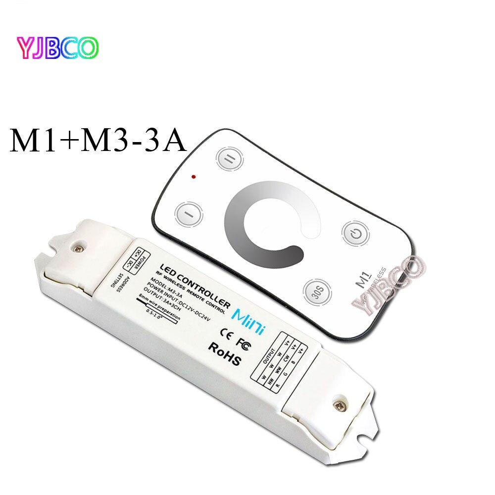 Gute preis M1 + M3 3A Led Dimmer DC12 24V RF Wireless Controller ...