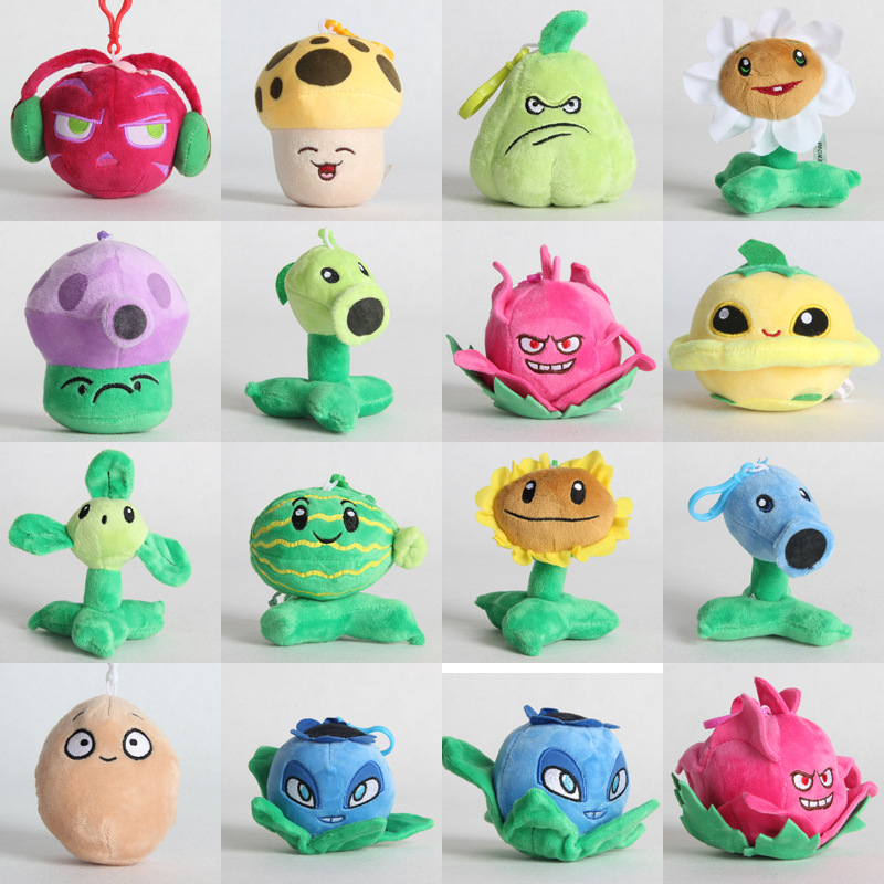 1pcs 10cm Plants Vs Zombies Plush Pendant Toy PVZ Plants SunFlower Peashooter Plush Stuffed Toys Doll For Children Kids Gifts