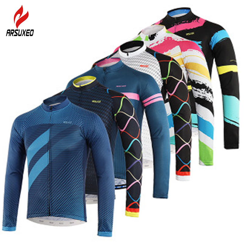 ARSUXEO Sports activities Biking Jersey Spring Summer season Bicycle Biking Clothes/Professional Group Lengthy Sleeve MTB Garments Shirt Bike Jersey Ciclismo Biking Jerseys, Low cost Biking Jerseys, ARSUXEO Sports activities...