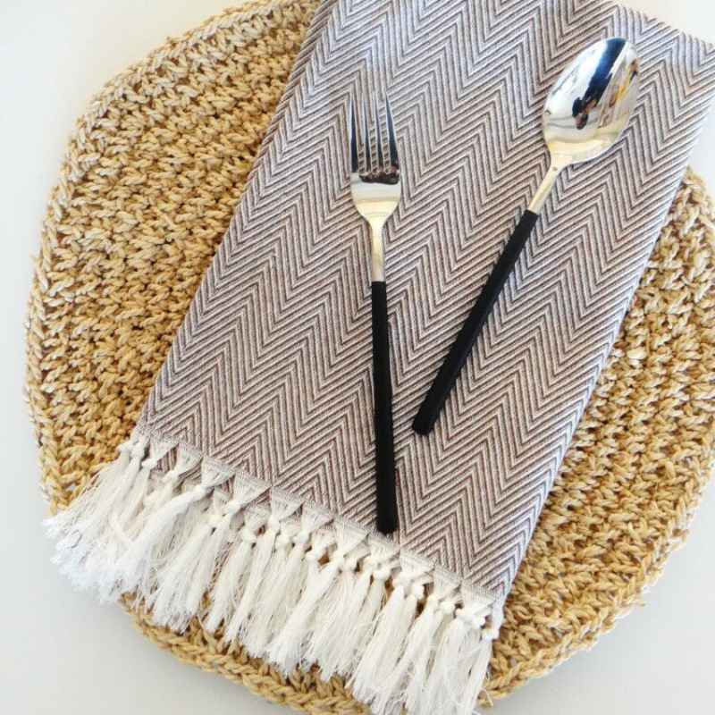 Table & Sofa Linens Tassel Knitte Napkin Table Cloth Home Wedding Party Kitchen Dishes Napkins Decorative Handkerchief Tea Towels 38x62cm Online Discount Home & Garden