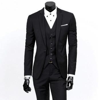 Latest Coat Pant Designs New Black Wedding Suits for Men Slim Fit 3 Piece Groom Tuxedo Custom Suit Prom Blazer Terno Masculino