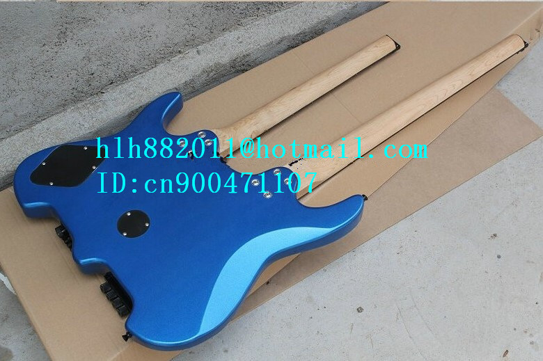 free shipping double neck headless electric guitar with maple fingerboard in blue +foam box vicers guitars china maple fingerboard t ele caster electric guitar in stock free shipping