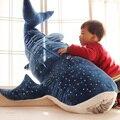 50/100 cm Nuevo Estilo Tiburón Azul muñeca de Trapo de Juguetes de Peluche Grandes Peces Ballena de peluche de felpa muñeca de Los Niños Regalo de cumpleaños