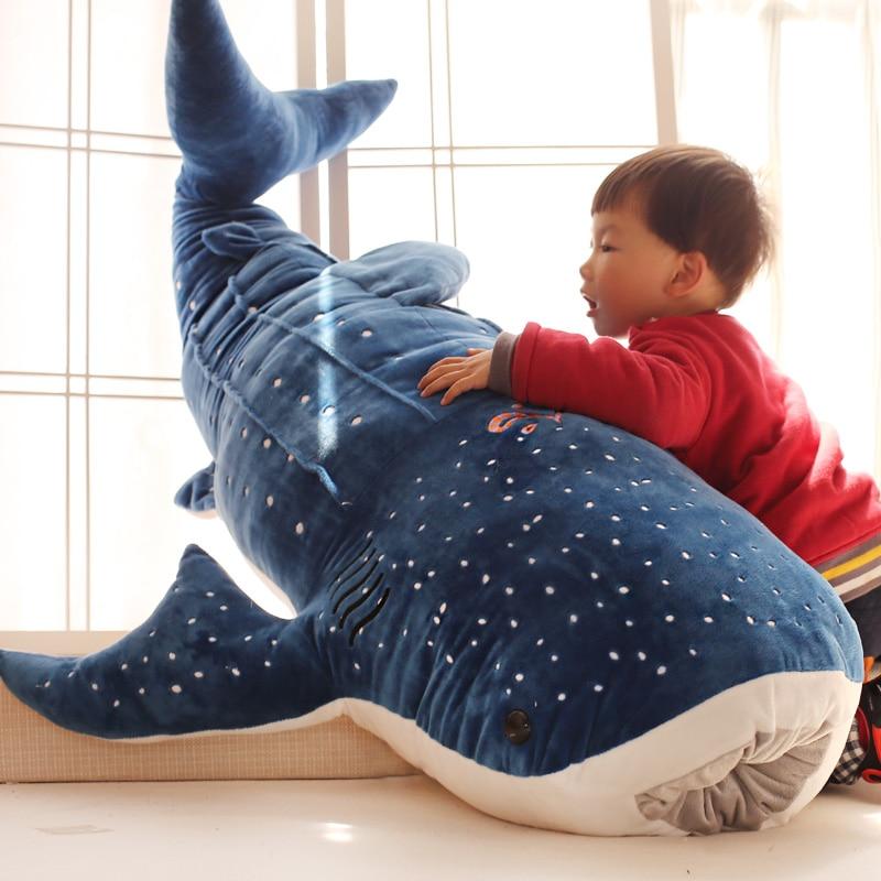 50 100cm New Style Blue Shark Plush Toys Big Fish Cloth
