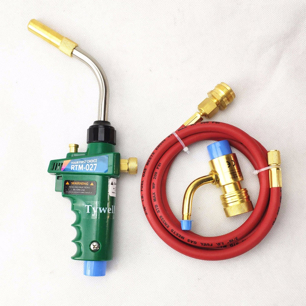 Gas Welding Torch Self Ignition 1.5m(5ft) Hose Gas Brazing Burner Soldering Quenching BBQ Burner CE HVAC Hand MAPP Torch