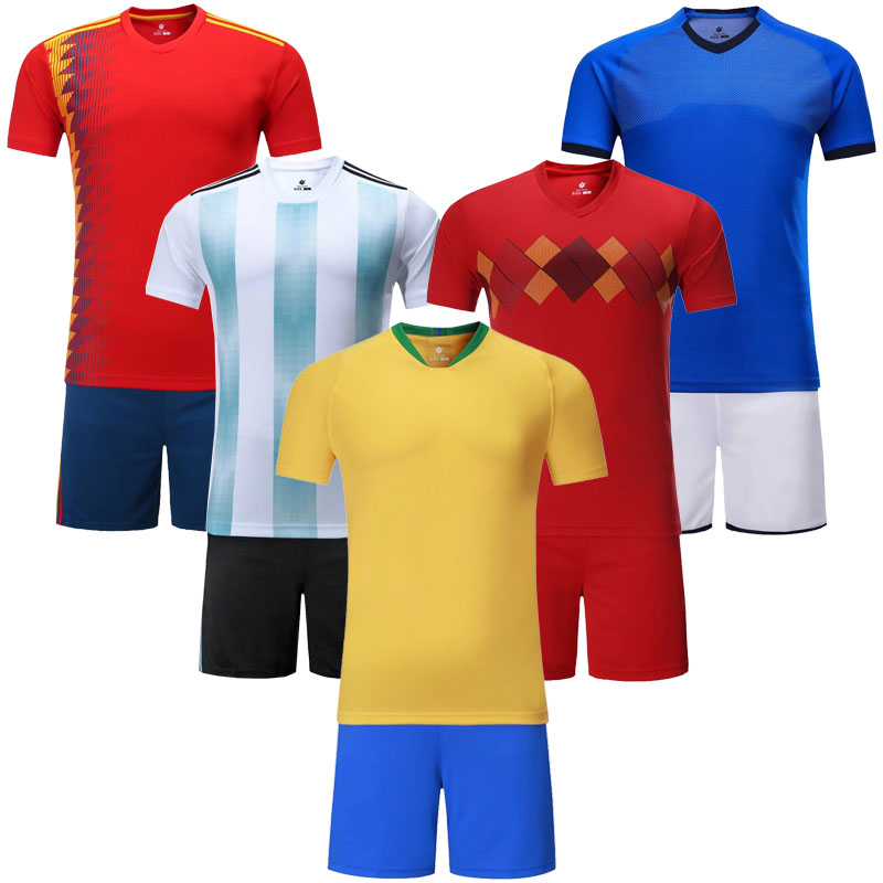 0fc1e63d7 18/19 Blank Soccer Jersey & shorts Adults & children jerseys Football  uniform Soccer Training Suit Running Sportswear Customized