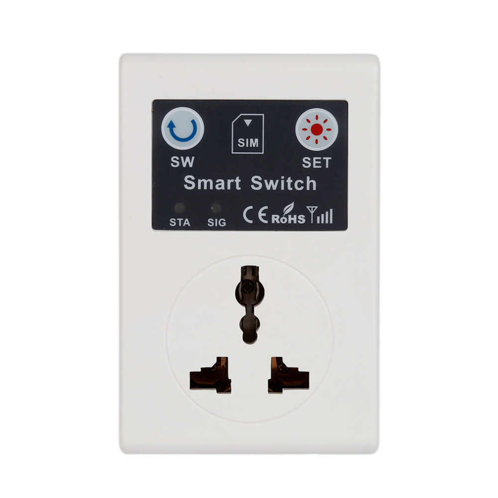 Profesyonel İngiltere/ab 220V telefonu RC uzaktan kablosuz kontrol akıllı anahtar GSM soket priz ev için ev aletleri
