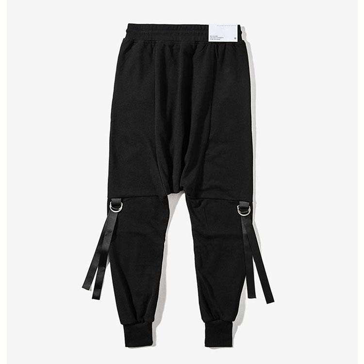 Aolamegs Mens Harem Pants Hip Hop Dancing Cross-pants Ribbon Fashion Street Male Joggers Pants 2017 Autumn New Casual Trousers (5)