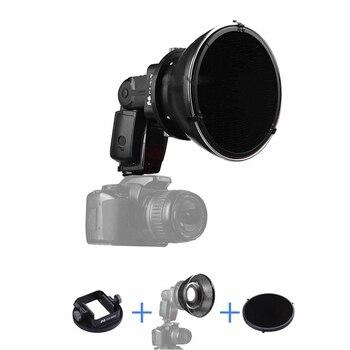 Standard Flash Reflector + HoneyComb Grid + Universal Flash Adapter Mount CA-SGU for Canon Nikon Sony Yongnuo Pentax Speedlite фото