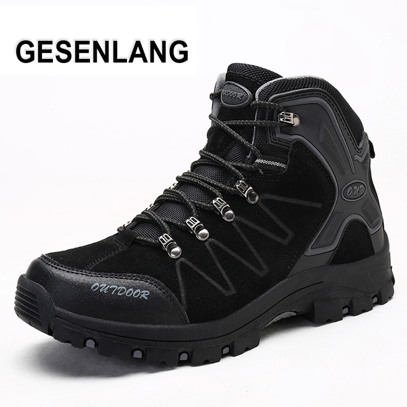 Men s High Top Outdoor Hiking Shoes 2019 Spring Tourism Climbing Mountain Trekking Hunting Boots Wear