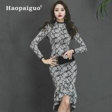 S-XL Plus Size Print Vintage Dress Women Trumpet Sheath Korean Dresses Casual Office Work Ladies Floral Vestidos