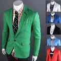2016 correu promoção Regular homens Terno Terno homens Terno Masculino primavera Masculino botão uma cor sólida fino Blazer Outerwear moda