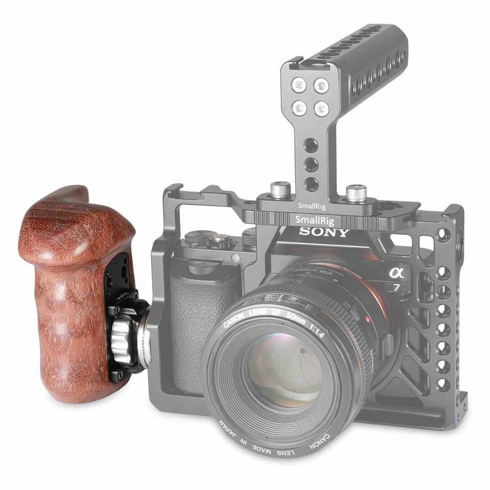 Smallrig untuk Sony A7II/A7RII/A7SII Kamera Cage Sisi Kanan Gagang Kayu dengan ARRI Rosette untuk Penahan Bahu dukungan Rig-1941