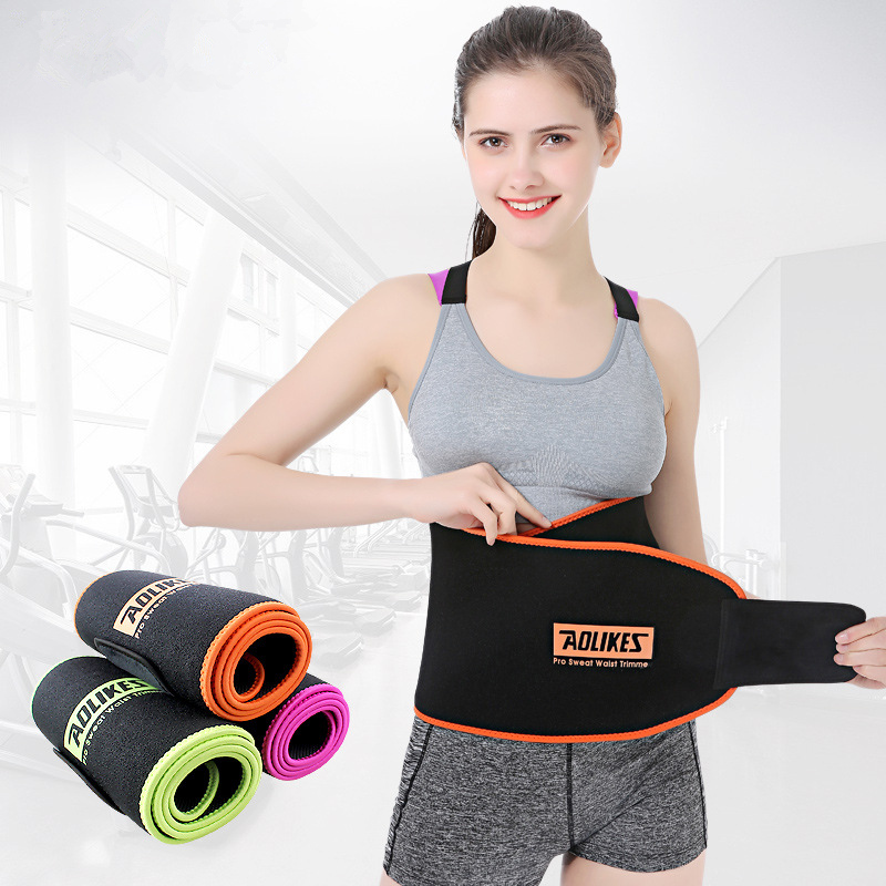 Waist Trimmer Sauna Slimming Belt Exercise Sweat Belt Weight Loss Burn Body Shaper Gym Fitness back belt For Sports Safety цена