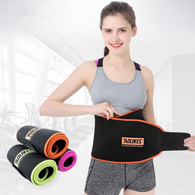 Waist Trimmer Sauna Slimming Belt Exercise Sweat Belt Weight Loss Burn Body Shaper Gym Fitness back belt For Sports Safety