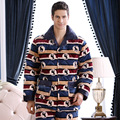 2016 Spring and Winter Style Thick Warm Flannel Pajamas Sets Plus-size XXXL Leisure Fleece Long-sleeved Household Men Sleepwear