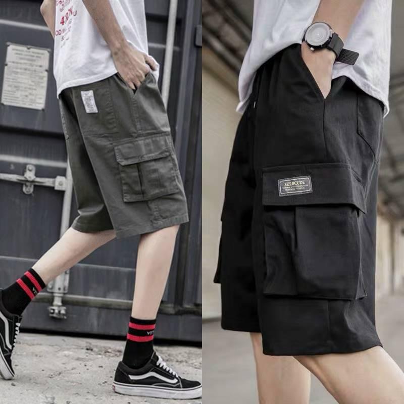 Cargo Shorts Men Hip Hop Summer Shorts Streetwear 2019 New Fashion Knee Length Short Joggers Casual Short Pants With Pockets