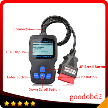 цена на Car Engine Scanner OM123 CAN OBD2 OBDII EOBD Engine Code Reader Auto Car Vehicle Diagnostic Scan Tool Multi Languages