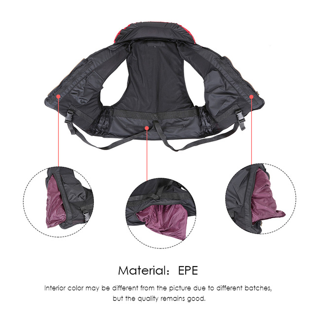 Adult Polyester Swimming Life Jacket Professional Life Vest For Drifting Boating Survival Fishing Safety Jacket Water Sport Wear