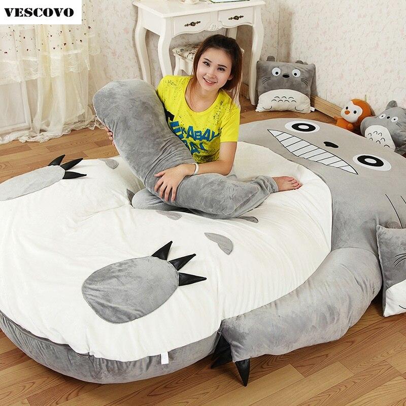 2019 Neuestes Design Große Totoro Einzel-und Doppel Bett Riesen Totoro Bett Matratze Kissen Plüsch Matratze Pad Tatami Kissen Sitzsack Matelas Mit Einem LangjäHrigen Ruf Wohnmöbel