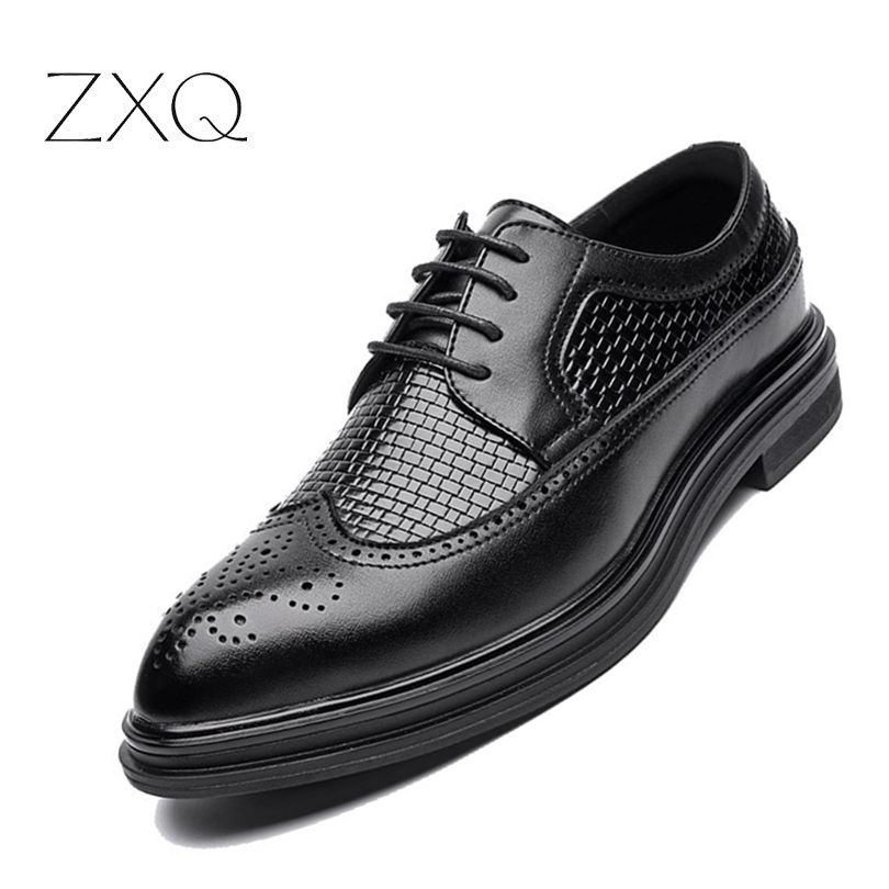 Men Brogues Leather Shoes Derby Men Black Shoes Oxford Luxury Brand Spring Autumn Men Shoes Business цены онлайн