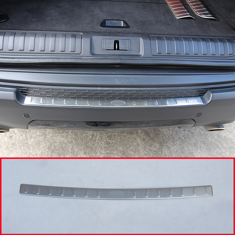 Stainless Steel Outside Rear Bumper Protector Sill Plate Cover For Land Rover Range Rover Sport 2014