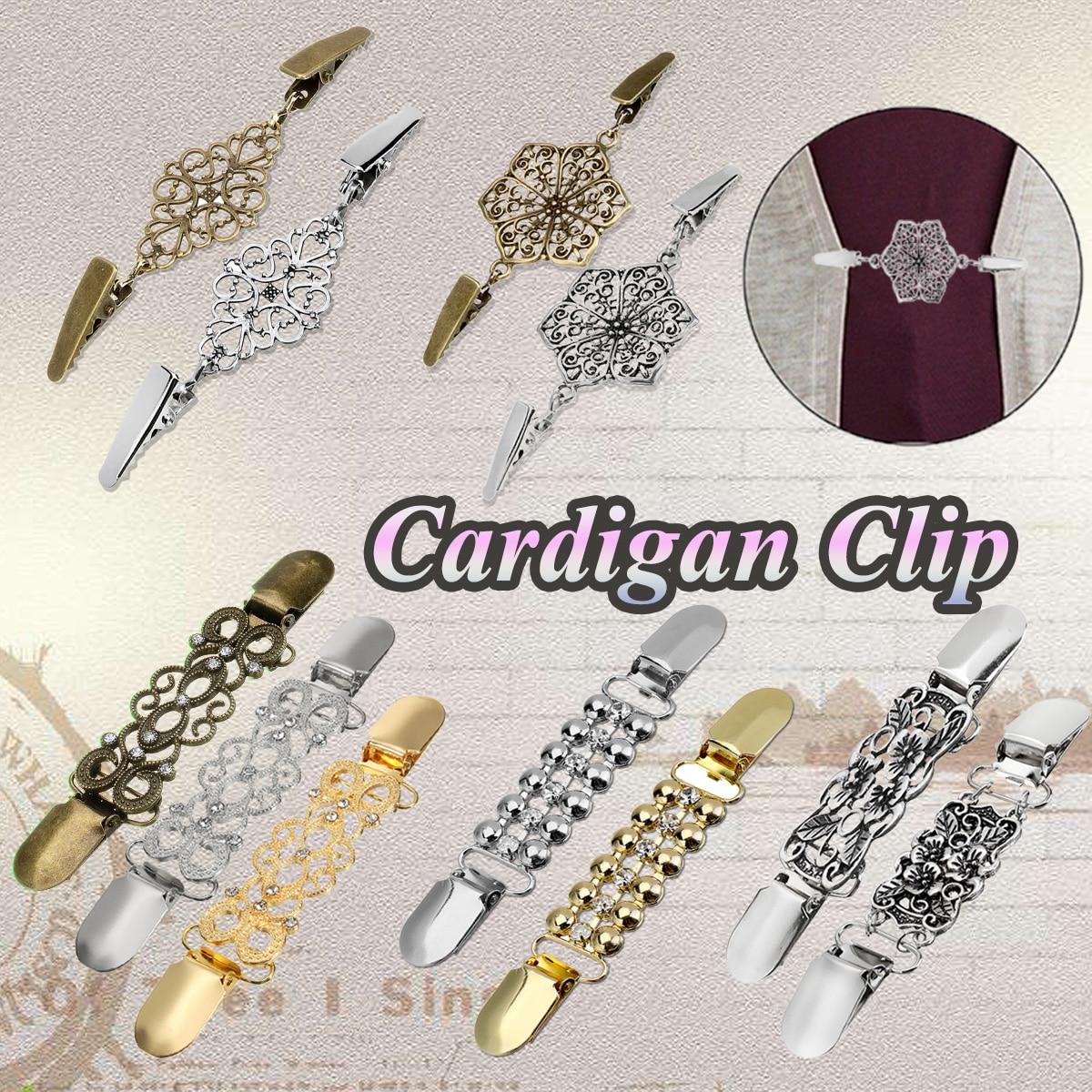 5x Cardigan Clip for Women Sweater Blouse Shawl Shirt Collar Duckbill Clasps
