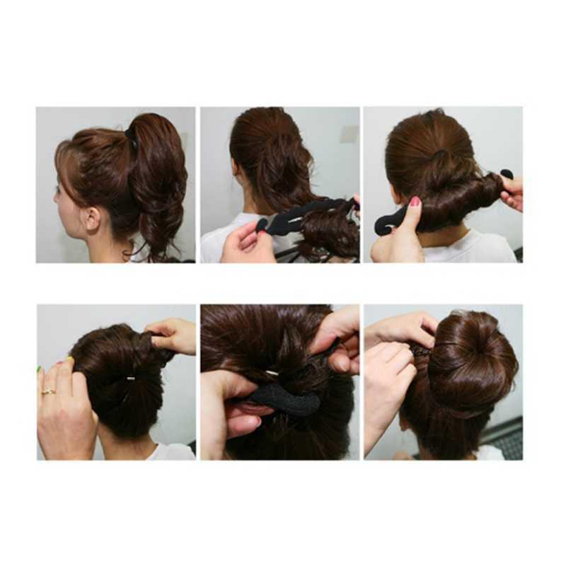 Magic Hair Styling Twist Styling Bun Hairpins Hairdisk Meatball Head Rubber Clip Hair Accessories For Women Hair Braiding Tool