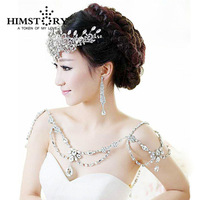 New Fashion Bride Jewelry Vintage shoulder Chains big Necklaces Pendant Long Necklace Wedding Shoulder strap Bridal Accessories