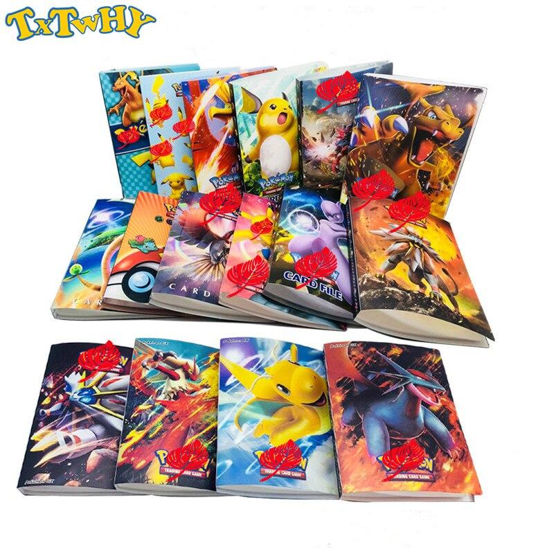 Spiel-sammelkarten 240 Pcs Halter Album Spielzeug 16 Stil Pikachu Sammlung Karten Pokemones Album Buch Top Geladen Liste Pokemones Spielzeug Geschenk Für Kinder
