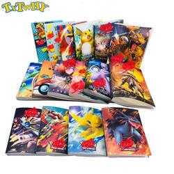 240 шт. держатель Детские альбомы 16 стиль Пикачу коллекционные карточки Pokemones альбом книга Топ загружен список Pokemones игрушечные лошадки