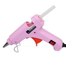 Rosa práctico calentador profesional de alta temperatura 20 W pistola de pegamento caliente herramienta de reparación de calor con pegamento de fusión en caliente